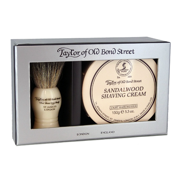 Sandalwood set cadou pure badger