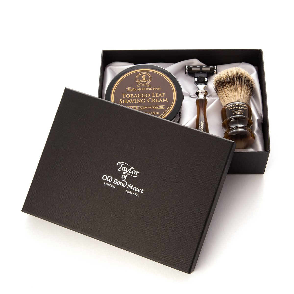 Victorian Tobacco Leaf pure badger luxury starter set
