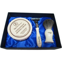 Sandalwood pure badger luxury starter set