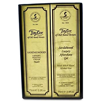Cadou Sandalwood - cremă de ras & gel aftershave