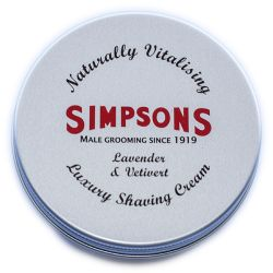 Simpson Shaving Brushes - Simpson Luxury Lavender & Vetivert Shaving Cream