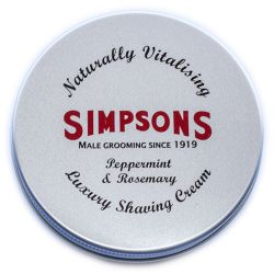 Simpson Luxury Peppermint & Rosemary Shaving Cream